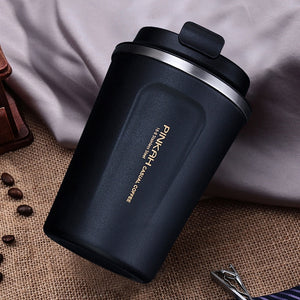 12.8oz & 16.9oz 304 Stainless Steel Thermo Travel Coffee Mug with Lid - Coffee Chronicles