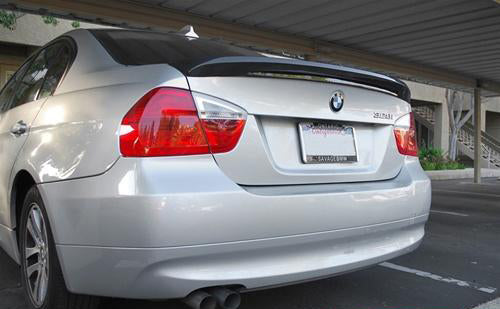 BMW E90 3 Series Carbon Fiber Trunk Spoiler V1