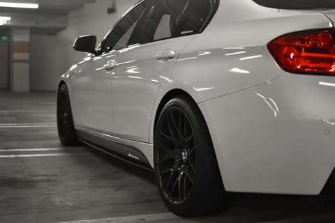 BMW F30 3 Series Carbon Fiber Performance Side Skirt Extensions