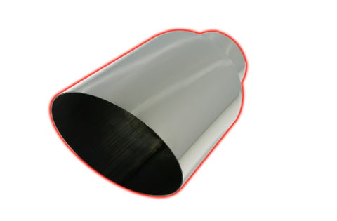 45 Deg Angle Cut | Polished 304 Stainless Exhaust Tip