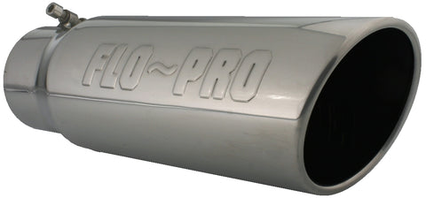 Flo~Pro Logo Bolt-on | Polished 304 Stainless Exhaust Tip