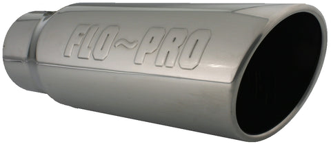 Flo~Pro Logo | Polished 304 Stainless Exhaust Tip