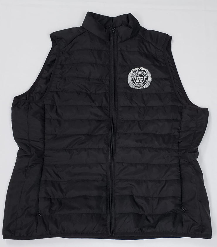 WEF Ladies Lightweight Puffer Vest w/ Packable Bag