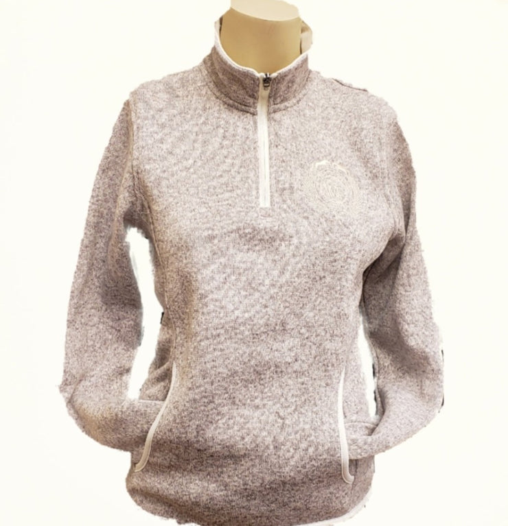 WEF Ladies Heathered Zip Pullover