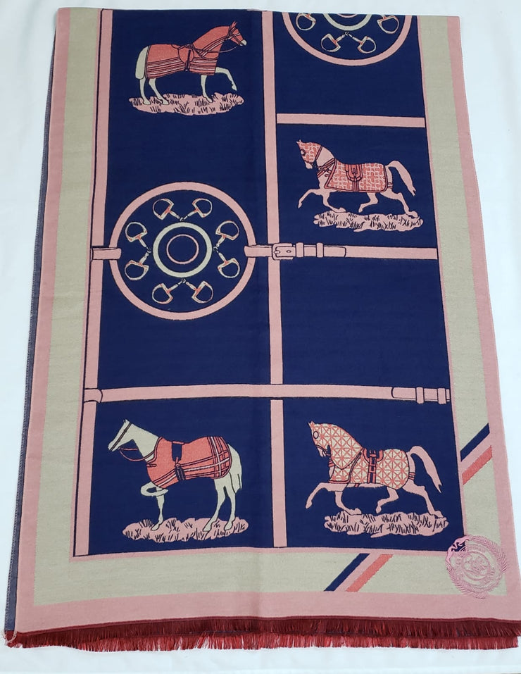Large Equestrian Horse Scarf