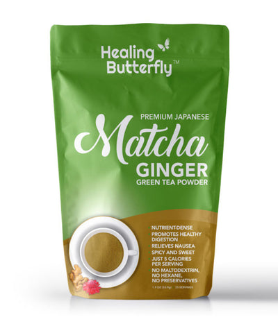 Ginger Matcha Green Tea Powder – 25-serving Pouch