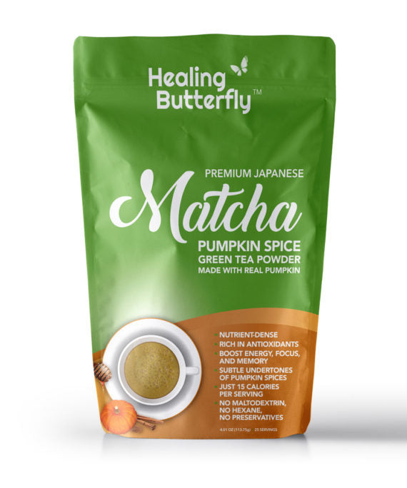 Japanese Pumpkin Spice Matcha Green Tea Powder – 25-serving Pouch