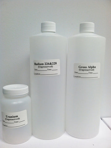 Gross Alpha or Radium 226/228 -Bottle Order