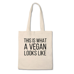 This Is What A Vegan Looks Like - 100% Cotton Canvas Bag