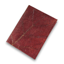 Load image into Gallery viewer, Passport Cover in Leaf Leather - Chestnut Brown