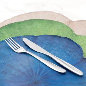 Blue Lotus Leaf Placemats - Set of Four