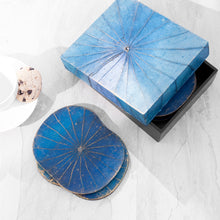 Load image into Gallery viewer, Blue Lotus Leaf Coasters - Set of Six