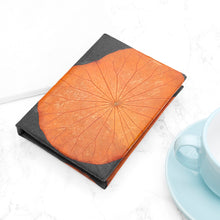 Load image into Gallery viewer, A6 Lotus Notebook - Orange