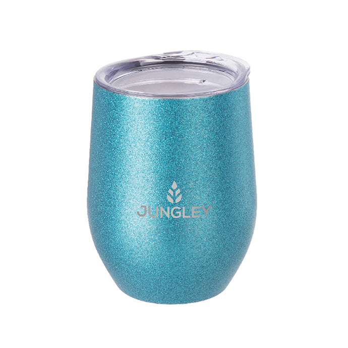 Jungley Glitter Stemless Wine Insulated Tumbler