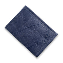 Load image into Gallery viewer, Bifold Cardholder in Leaf Leather - Midnight Blue
