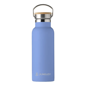 Eco Friendly Insulated 17oz Water Bottle with Bamboo Lid