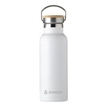 Load image into Gallery viewer, Eco Friendly Insulated 17oz Water Bottle with Bamboo Lid