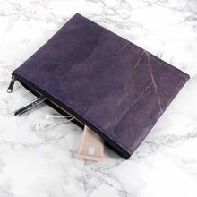 Load image into Gallery viewer, Clutch Bag in Leaf Leather - Dark Lavender