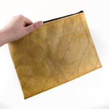 Load image into Gallery viewer, Clutch Bag in Leaf Leather - Tuscan Yellow
