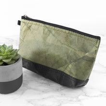 Load image into Gallery viewer, Riverside Wash Bag in Leaf Leather - Leaf Green