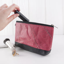 Load image into Gallery viewer, Riverside Wash Bag in Leaf Leather - Pink Coral