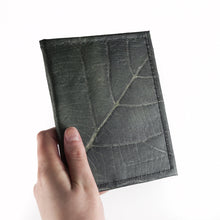 Load image into Gallery viewer, Passport Cover in Leaf Leather - Pebble Black