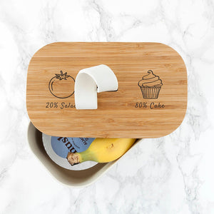 Bamboo Lunch Box - Salad and Cake Design