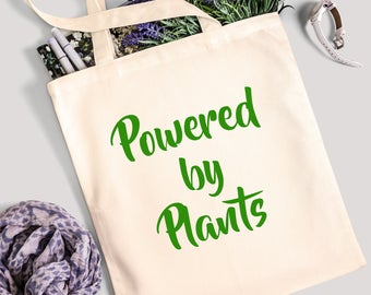 Tote Bag - Powered by Plants - 100% Cotton Canvas Bag
