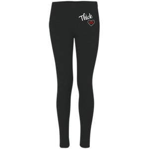 Basic Black Thick Leggings - HELLUVAMUVA