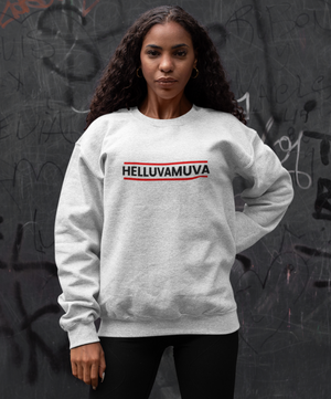 Lady in Red Sweatshirt - HELLUVAMUVA