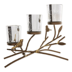 Triple Tealight Branches Candleholder