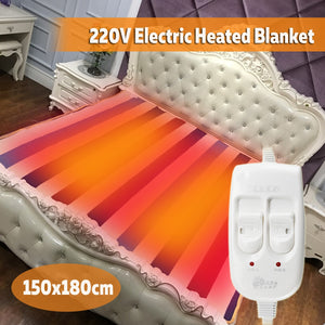 Electric Heating Thermostat Throw Blanket Double Body Warmer Bed Mattress