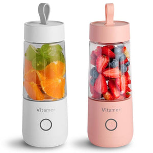 350ml Mini Portable Electric Fruit Juicer USB Rechargeable Smoothie Maker Blender Machine Sports Bottle Juicing Cup