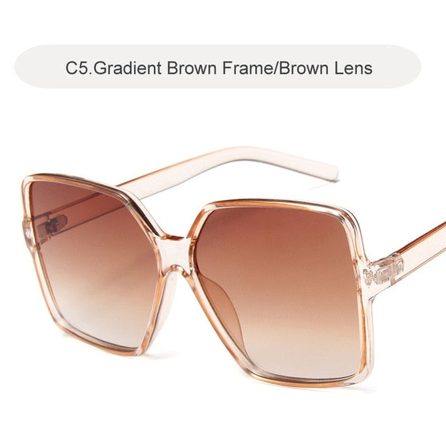 Women Gradient Plastic Sunglasses