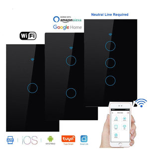 Wifi Smart Light Glass Screen Touch Panel Switch