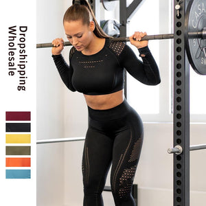 Leggings High Waist Gym Mesh