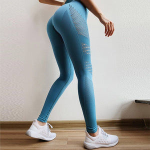 High Waist Gym Mesh Leggings