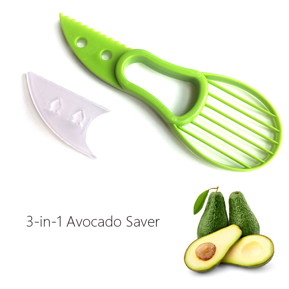 3-in-1 Avocado Slicer Shea Corer Butter Fruit Peeler Cutter