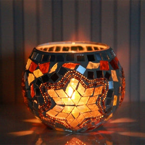 Andmade Mosaic Candle Holder - spree retail