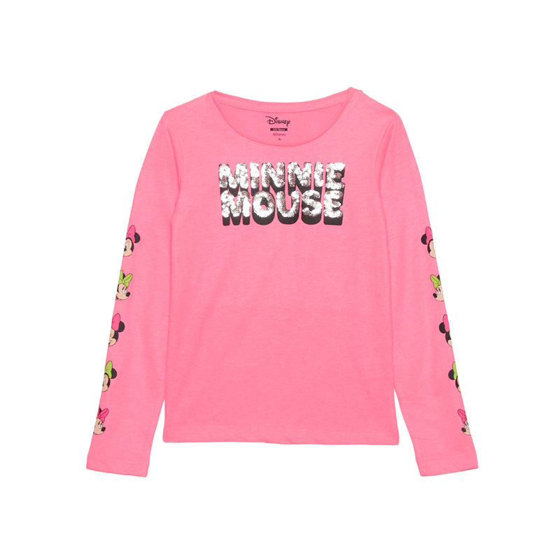 Mickey Mouse Pink Girls Full Sleeve T-Shirt