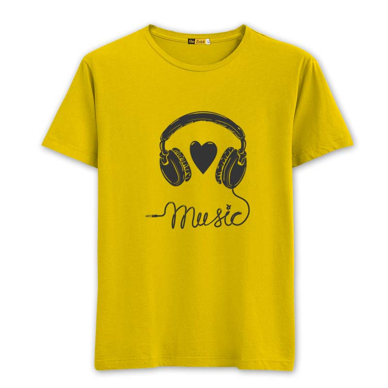 Music Love Round Neck T-Shirt