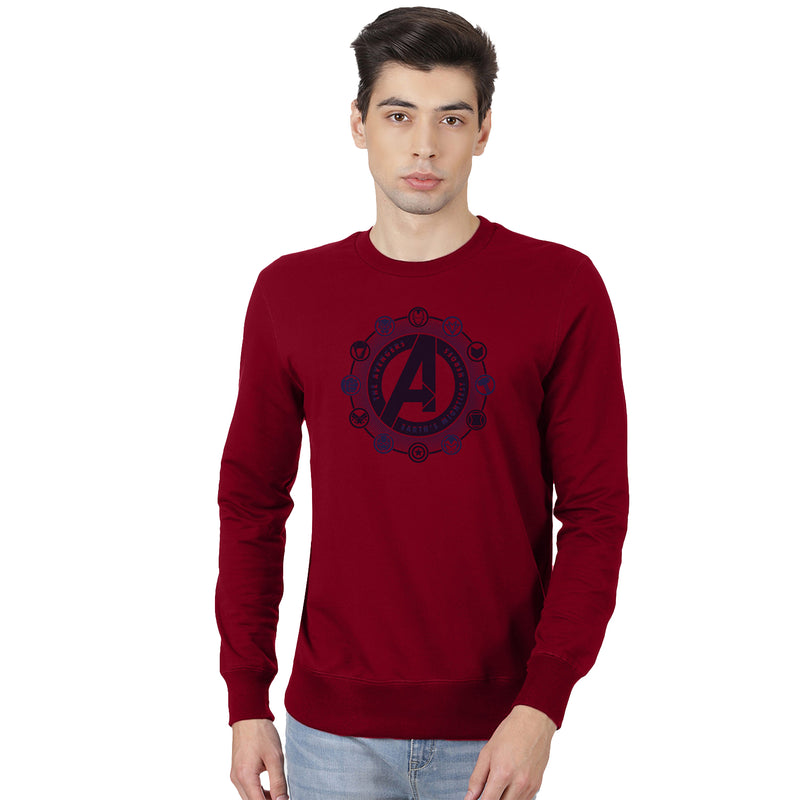 Avengers Printed Red Sweatshirt - 2206