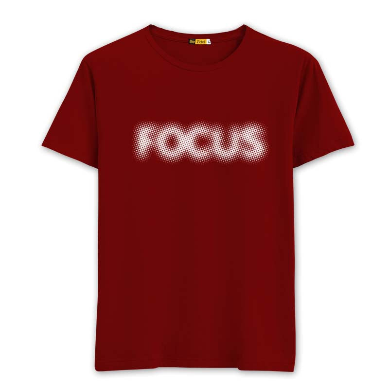 Focus Round neck T-shirt - Blood Red