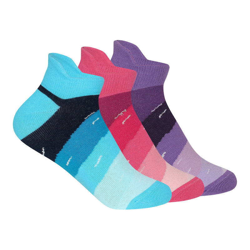 Women Compact Combed Cotton Sneaker Length Design Light Socks Pack Of 3