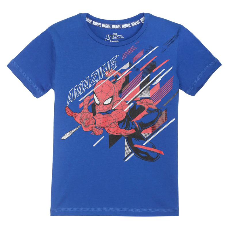 Spiderman Blue Color Boys Half Sleeves Tshirt - STY-19-20-000226