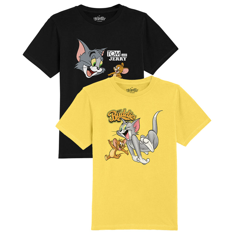 Tom & Jerry pack of 2 tshirts for Boys - KBTNJ05