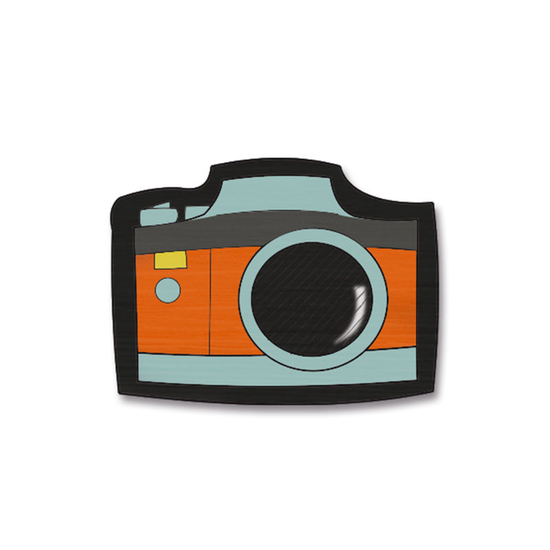 Camera Hand Painted Pin
