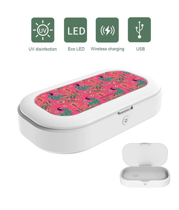 Anaar and Mor Pink UV Sanitizer & Wireless Charger Pro
