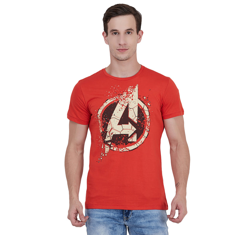 Avengers printed Orange Tshirt for Men - STY-18-19-005769