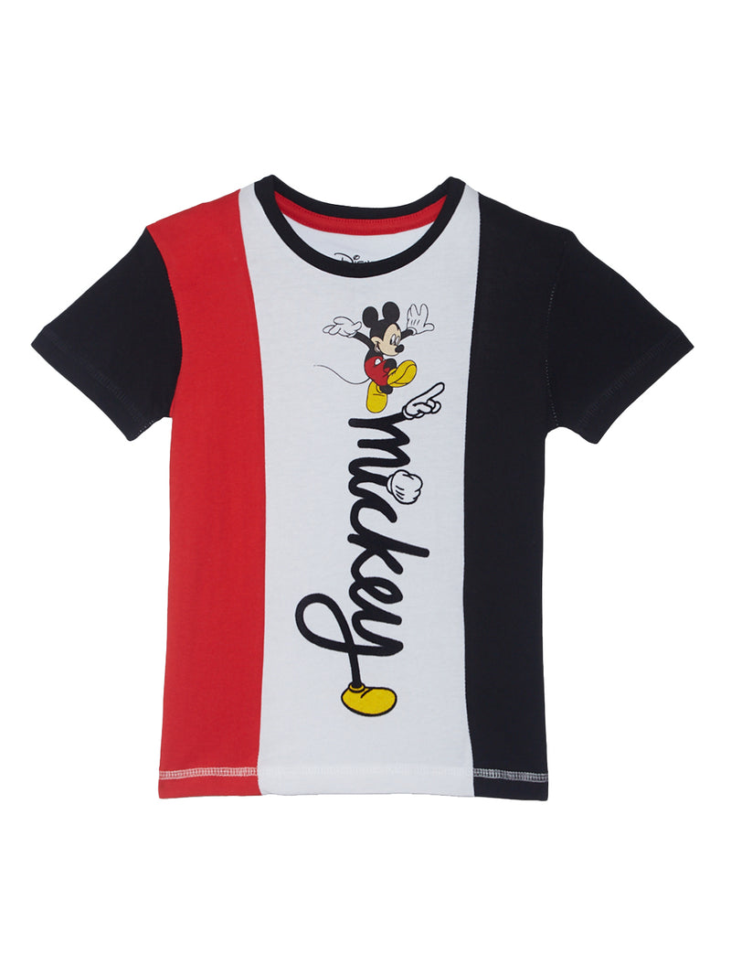 Mickey Mouse Black Boys T-Shirt - 0274